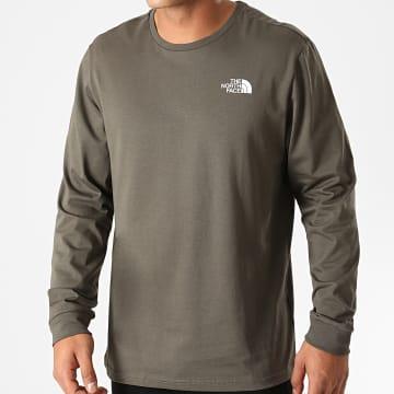 The North Face - Tee Shirt Manches Longues Simple Dome L3BK Vert Kaki