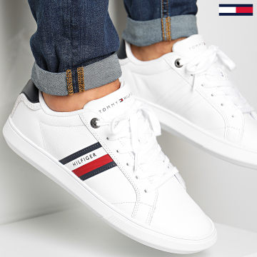 Tommy Hilfiger - Baskets Essential Leather Cupsole 2987 White