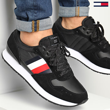Tommy Hilfiger - Baskets Corporate Mix Flag Runner 2995 Black
