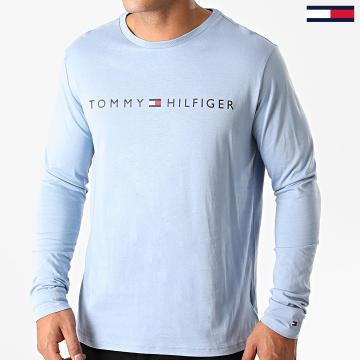 Tommy Hilfiger - Tee Shirt Manches Longues Logo 1171 Bleu Clair