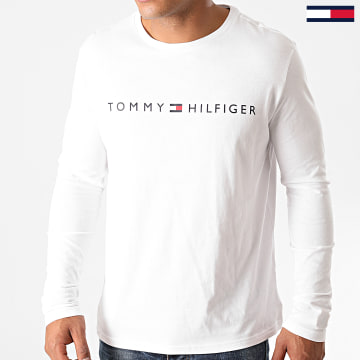 Tommy Hilfiger - Tee Shirt Manches Longues Logo 1171 Blanc