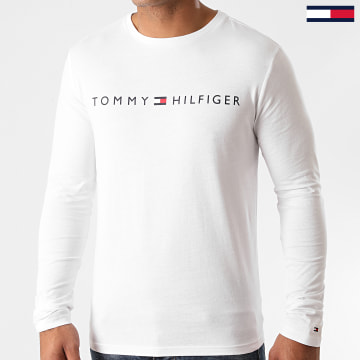 Tommy Hilfiger - Tee Shirt Manches Longues Logo 1171 Blanc