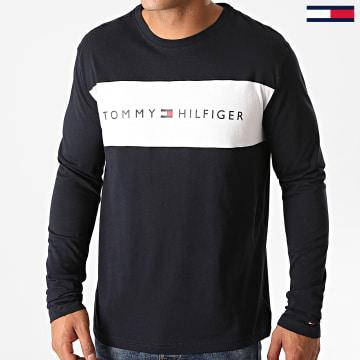 Tommy Hilfiger - Tee Shirt Manches Longues Logo Flag 1906 Bleu Marine