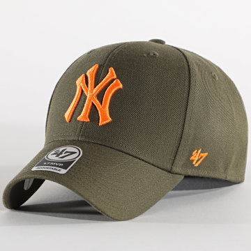 '47 Brand - Casquette MVP Adjustable New York Yankees Vert Kaki Orange