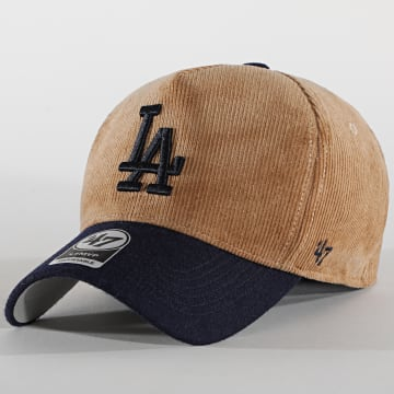 '47 Brand - Casquette MVP Adjustable Corduroy Los Angeles Dodgers Marron