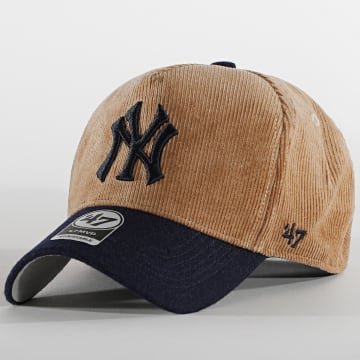 '47 Brand - Casquette MVP Adjustable Corduroy New York Yankees Marron
