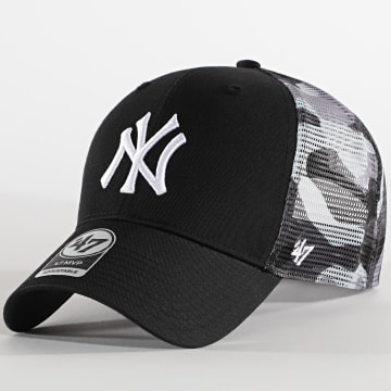 '47 Brand - Casquette Trucker MVP Adjustable New York Yankees Camo Noir Gris