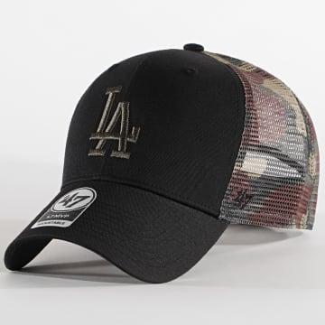 '47 Brand - Casquette Trucker MVP Adjustable Los Angeles Dodgers Camo Noir Vert Kaki
