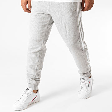 Adidas Performance - Pantalon Jogging A Bandes Essentials Colorblock GD5472 Gris Chiné