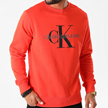 Calvin Klein - Sweat Crewneck Monogram Regular 5595 Orange