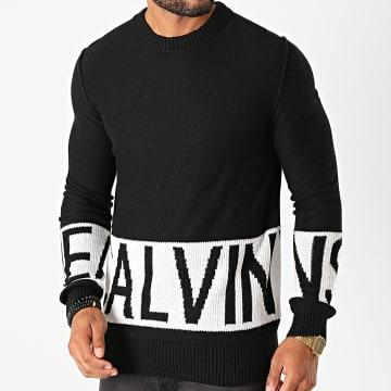 Calvin Klein - Pull Blocking Logo 6583 Noir Blanc