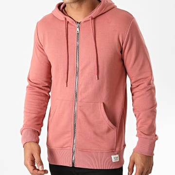 KZR - Sweat Zippé Capuche B025 Rose