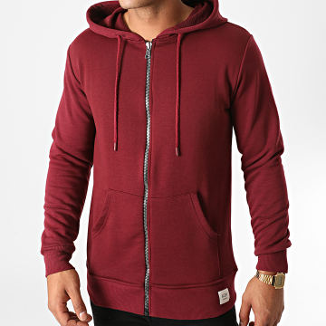 KZR - Sweat Zippé Capuche B025 Bordeaux