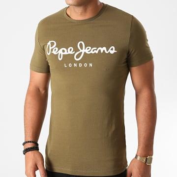Pepe Jeans - Tee Shirt Original Stretch PM501594 Vert Kaki