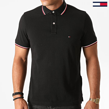 Tommy Hilfiger - Polo Manches Courtes Core Tommy Tipped 3080 Noir