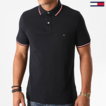 Tommy Hilfiger - Polo Manches Courtes Core Tommy Tipped 3080 Bleu Marine