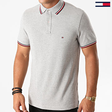 Tommy Hilfiger - Polo Manches Courtes Core Tommy Tipped 3080 Gris Chiné