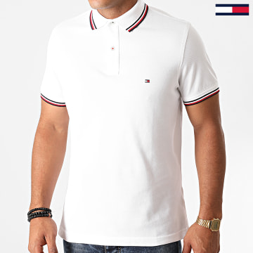 Tommy Hilfiger - Polo Manches Courtes Core Tommy Tipped 3080 Blanc