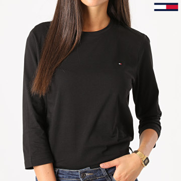 Tommy Hilfiger - Tee Shirt Manches Longues Femme Heritage 4968 Noir
