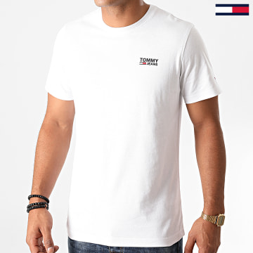 Tommy Jeans - Tee Shirt Corp Logo 9588 Blanc