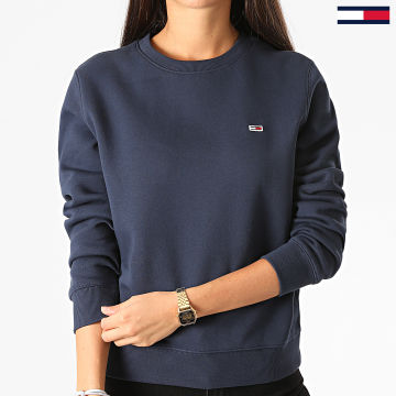 Tommy Jeans - Sweat Crewneck Femme Regular Fleece 9227 Bleu Marine