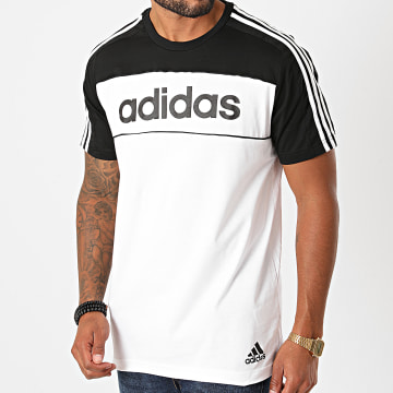 Adidas Performance - Tee Shirt A Bandes Essentials Tape GD5496 Blanc Noir