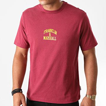 Franklin And Marshall - Tee Shirt JM3009-1000P01 Bordeaux
