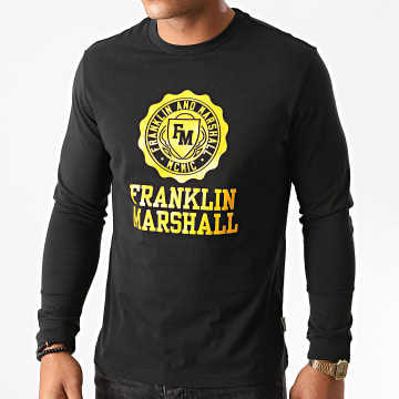 Franklin And Marshall - Tee Shirt Manches Longues JM3013-1000P01 Noir