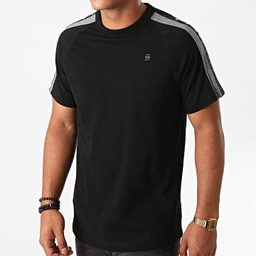 G-Star - Tee Shirt A Bandes Sport Tape Logo D17851-C336 Noir