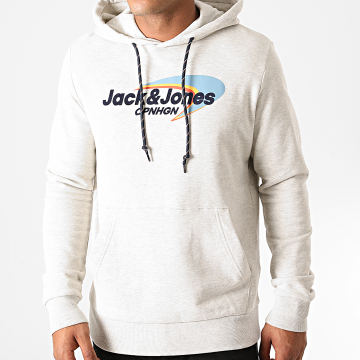 Jack And Jones - Sweat Capuche Workwear Gris Clair Chiné