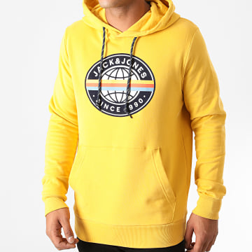 Jack And Jones - Sweat Capuche Workwear Jaune