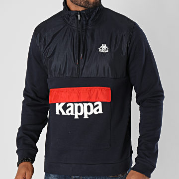 Kappa - Sweat Col Zippé If 3115KGW Bleu Marine