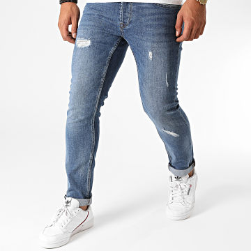 Only And Sons - Jean Slim Loom Damage Bleu Denim