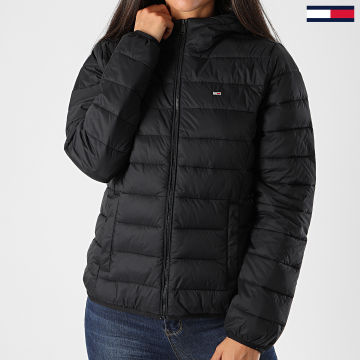 Tommy Jeans - Doudoune Capuche Femme Hooded Quilted Zip 8672 Noir