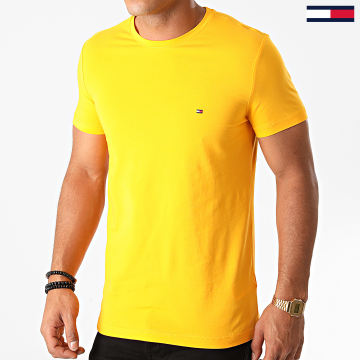 Tommy Hilfiger - Tee Shirt Slim Stretch 0800 Jaune