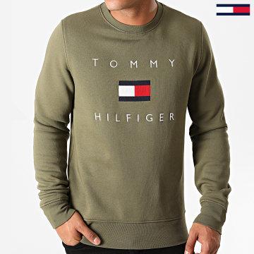 Tommy Hilfiger - Sweat Crewneck Tommy Flag Hilfiger 4204 Vert Kaki