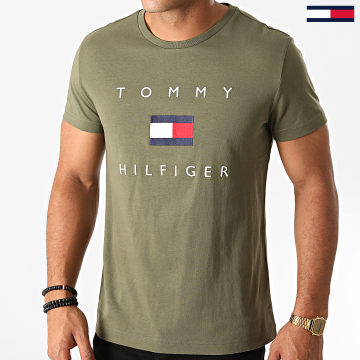 Tommy Hilfiger - Tee Shirt Tommy Flag Hilfiger 4313 Vert Kaki