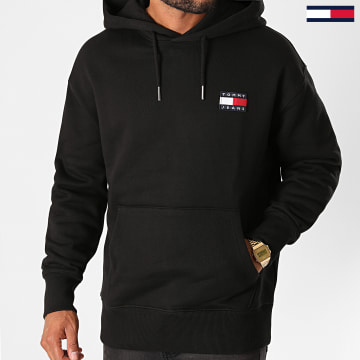 Tommy Jeans - Sweat Capuche Tommy Badge 6593 Noir
