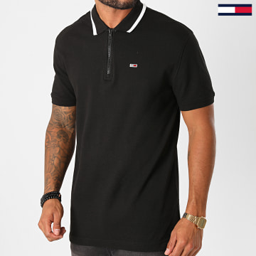 Tommy Jeans - Polo Manches Courtes Branded Placket 8765 Noir