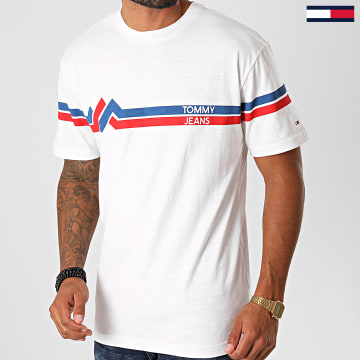 Tommy Jeans - Tee Shirt Stripe Mountain 8799 Ecru