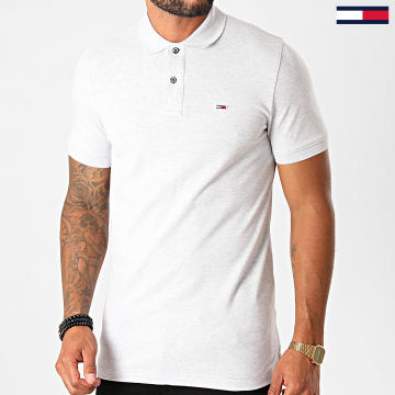 Tommy Jeans - Polo Manches Courtes Classics Solid 9439 Gris Clair Chiné