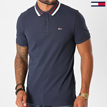 Tommy Jeans - Polo Manches Courtes Classics Tipped 9440 Bleu Marine