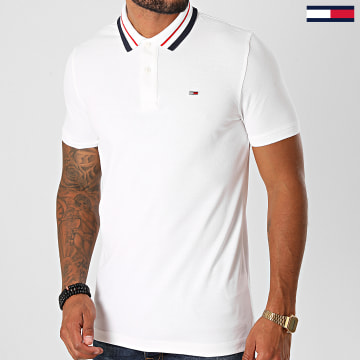 Tommy Jeans - Polo Manches Courtes Classics Tipped 9440 Blanc