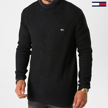 Tommy Jeans - Pull High Mock 9445 Noir