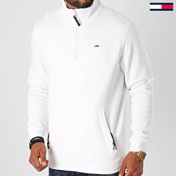 Tommy Jeans - Sweat Col Zippé Detail 9785 Blanc