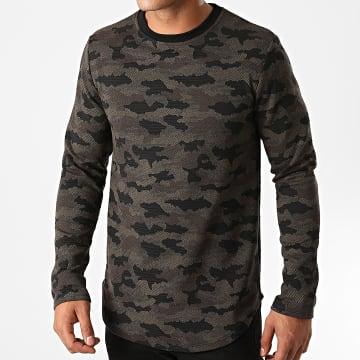 Uniplay - Sweat Crewneck Oversize 705 Vert Kaki Camouflage