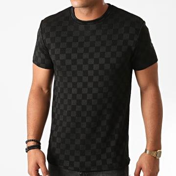Uniplay - Tee Shirt A Carreaux UY523 Noir