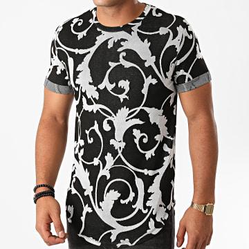 Uniplay - Tee Shirt Oversize UY524 Noir Renaissance Floral