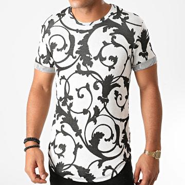 Uniplay - Tee Shirt Oversize UY524 Gris Clair Renaissance Floral