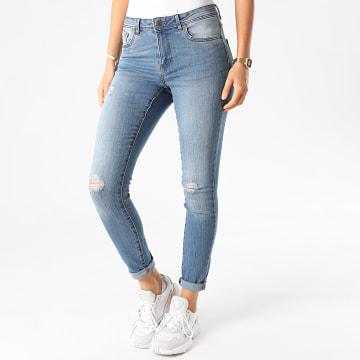 Vero Moda - Jean Slim Femme Tanya Bleu Denim